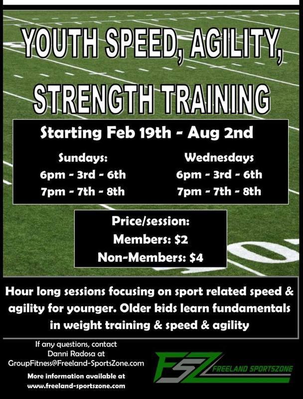Freeland Youth Football - Offseason Strength, Speed