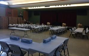Table set-up for UA Sub Sale