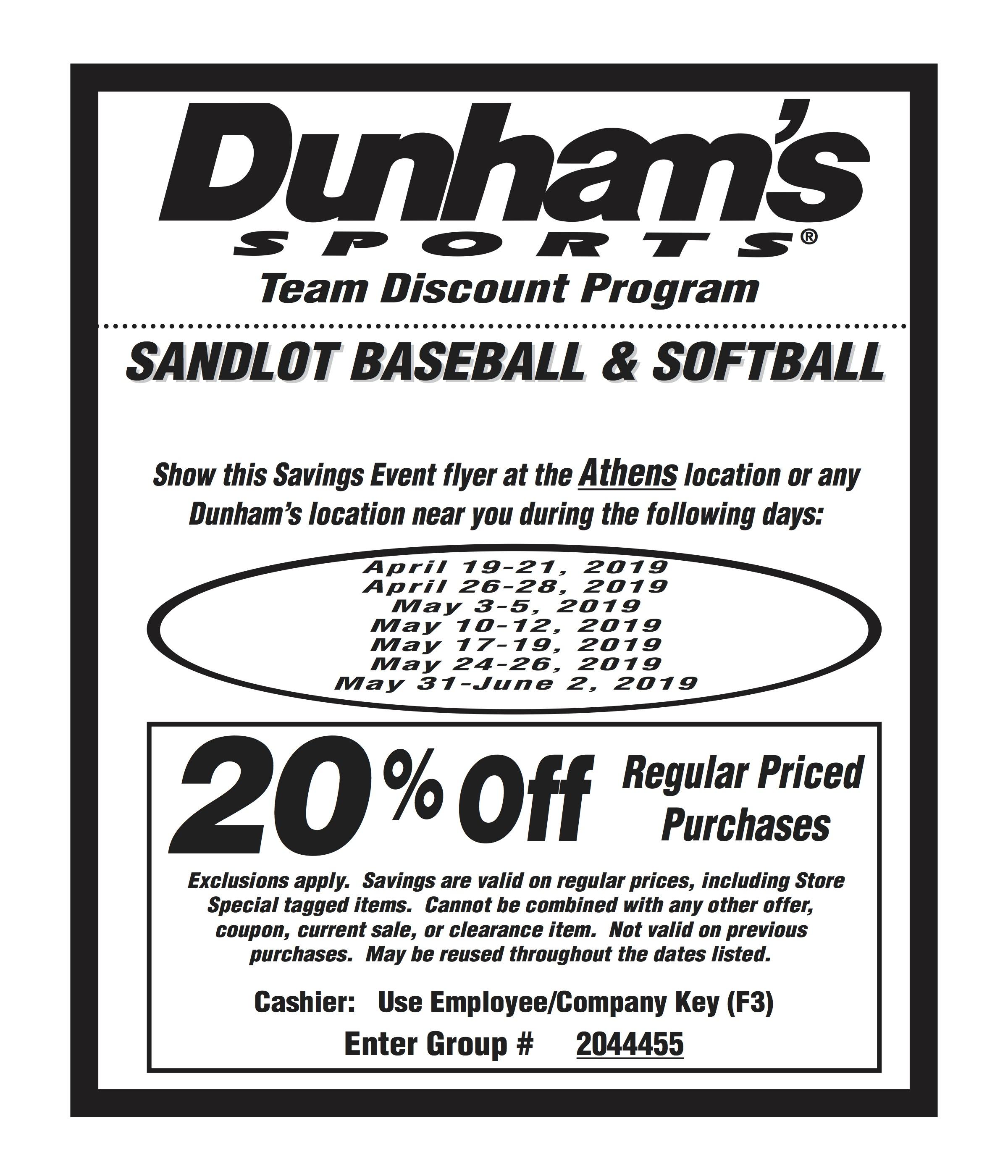 coupon for softball savings