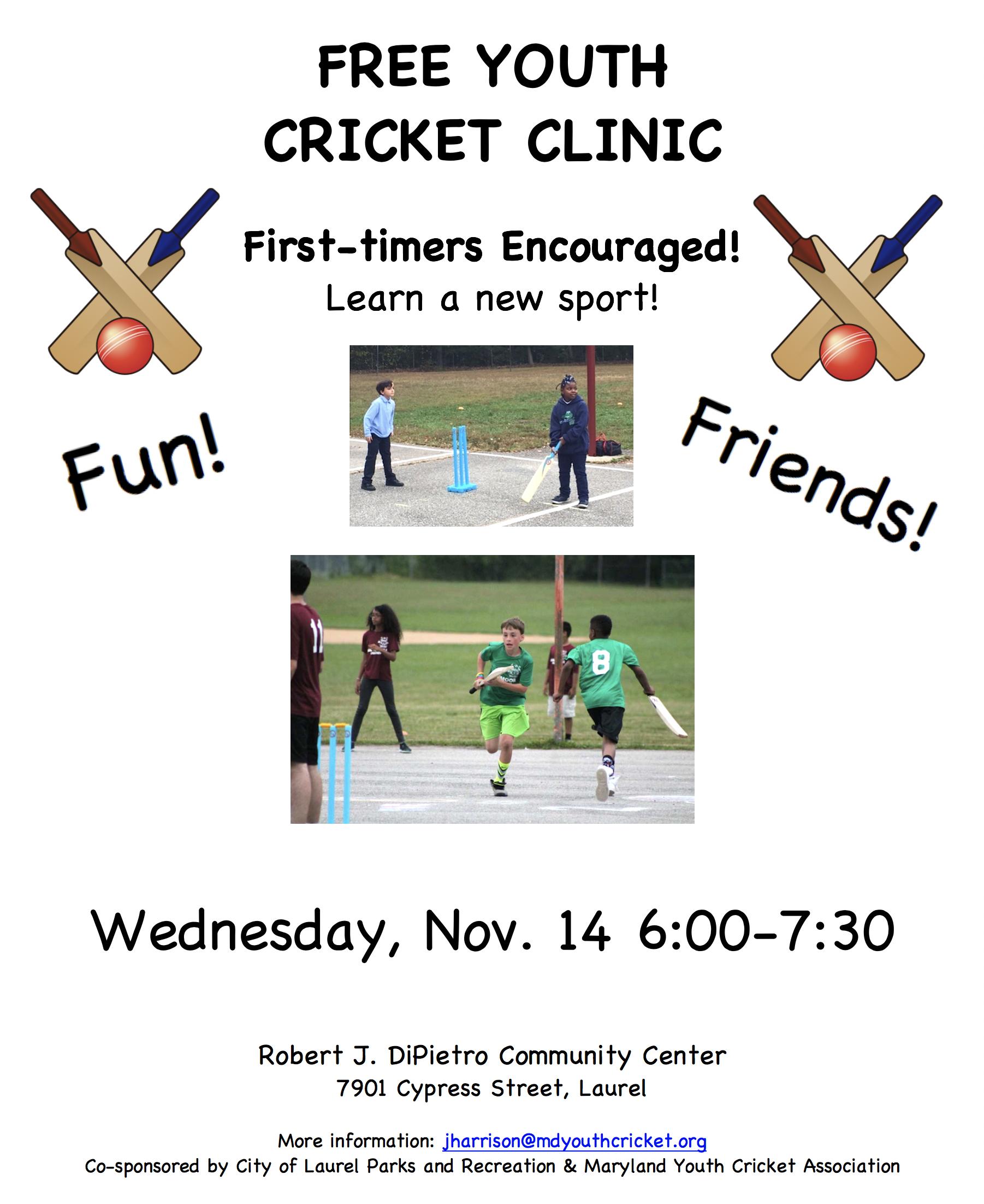 Laurel cricket clinic 7d9f4