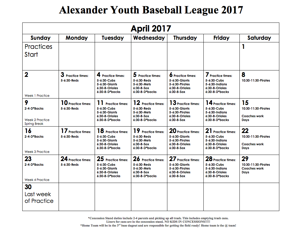 Alexander Youth Baseball